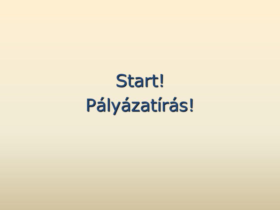 Start!Pályázatírás!