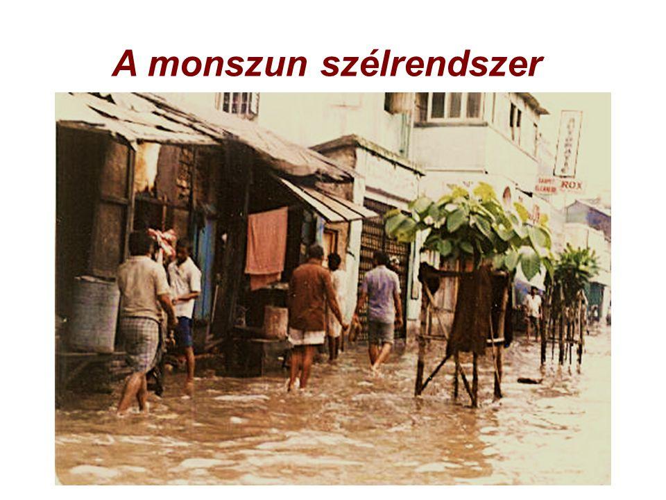 A monszun szélrendszer