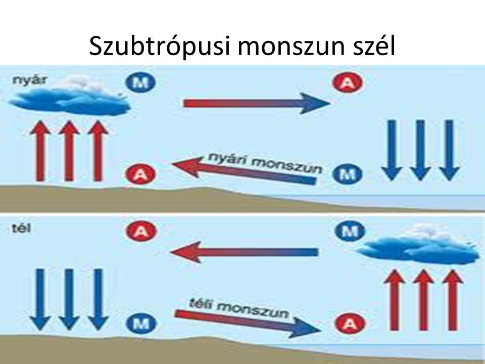 Szubtrópusi monszun szél