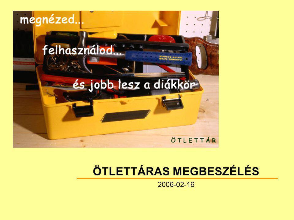 """42 Ötlettáras megbeszélés 2006-02-16 Szervezz """"fókusz csoportokat! P."""