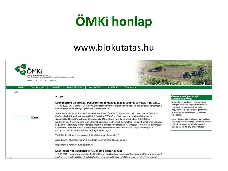 Bekapcsolódási lehetőségek On-farm kísérletek Diplomamunka Kérdőíves felmérés Hírlevél feliratkozás Konferencia