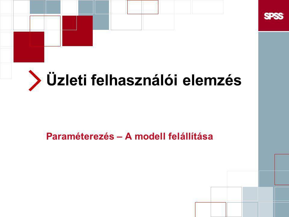 Üzleti felhasználói elemzés Paraméterezés – A modell felállítása