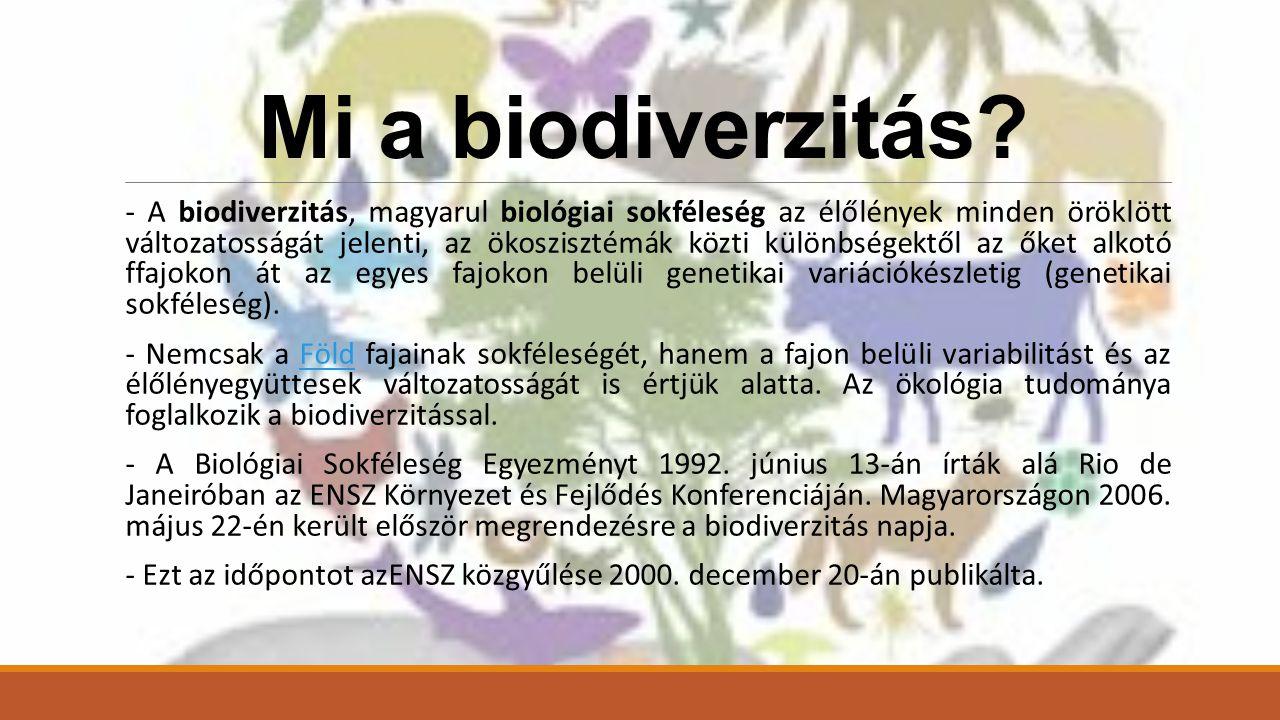 Mi a biodiverzitás.