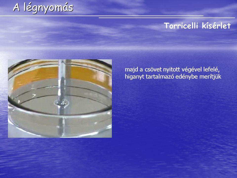 A légnyomás Barométerek A légnyomás mérésére különöző barométereket használunk.