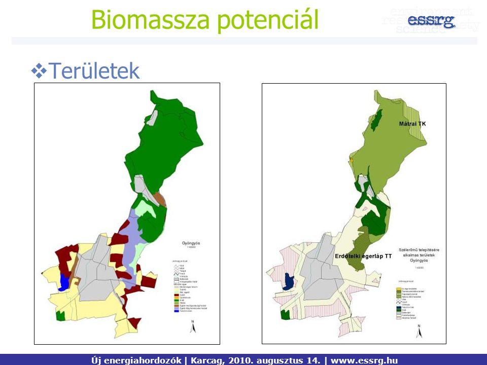 Biomassza potenciál  Területek Új energiahordozók | Karcag, 2010. augusztus 14. | www.essrg.hu