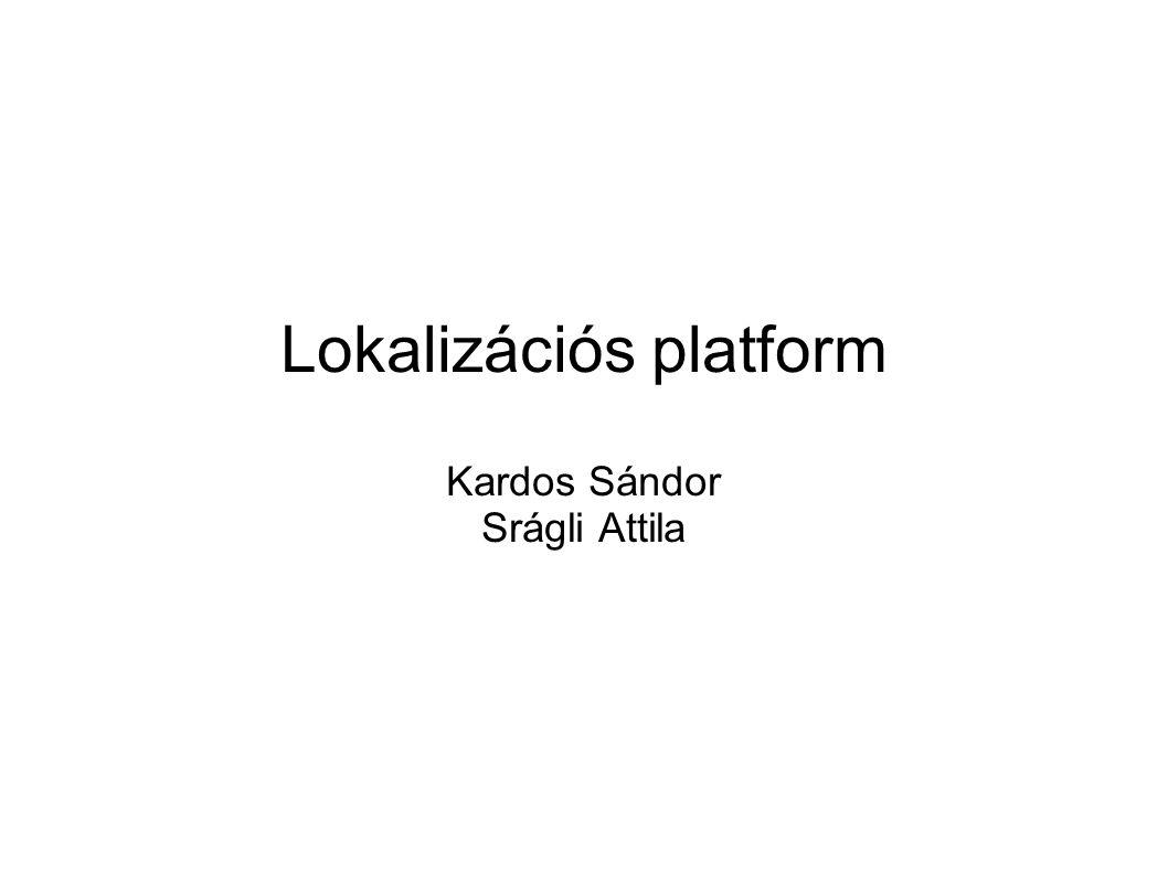 Lokalizációs platform Kardos Sándor Srágli Attila