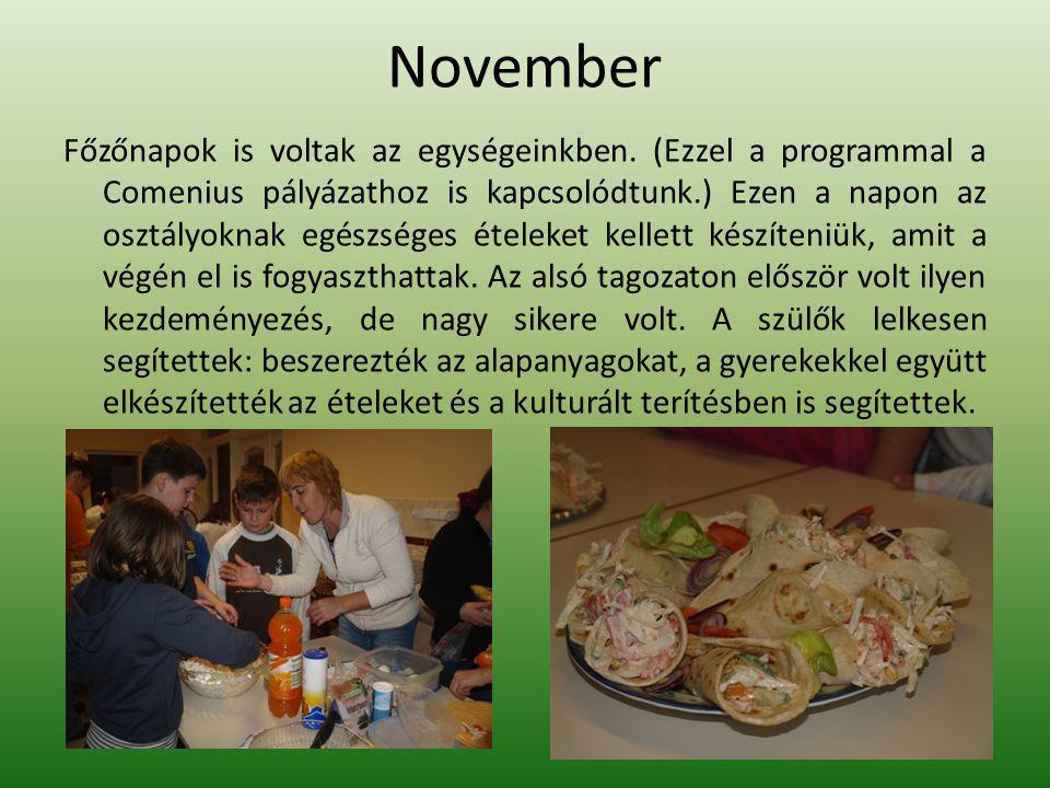 November Főzőnapok is voltak az egységeinkben.