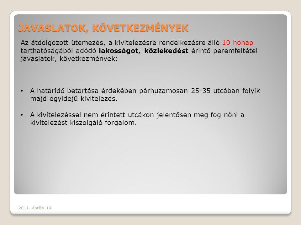 LOT 2 – LOT 3 Egyidejű munkavégzés a határidő miatt átdolgozott új ütemezésnek megfelelően 2011.