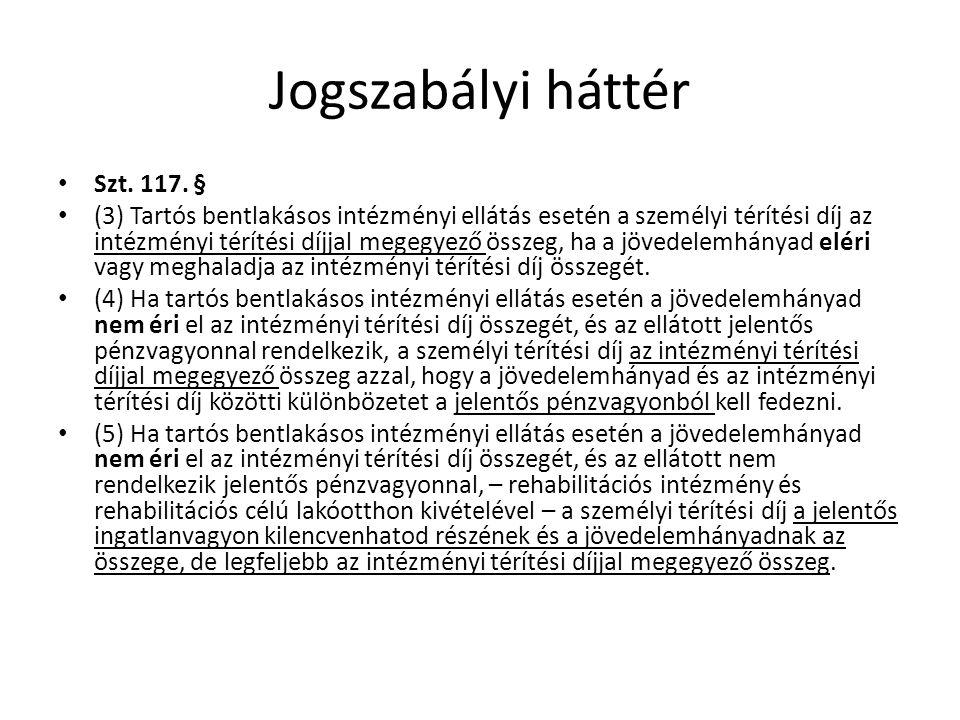 Jogszabályi háttér Szt.117.