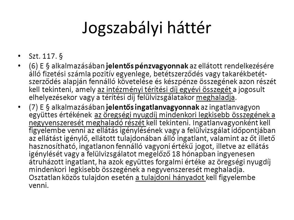 Jogszabályi háttér Szt.119/C.