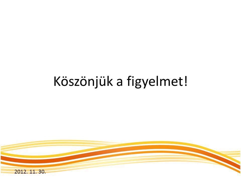 Köszönjük a figyelmet! 2012. 11. 30.