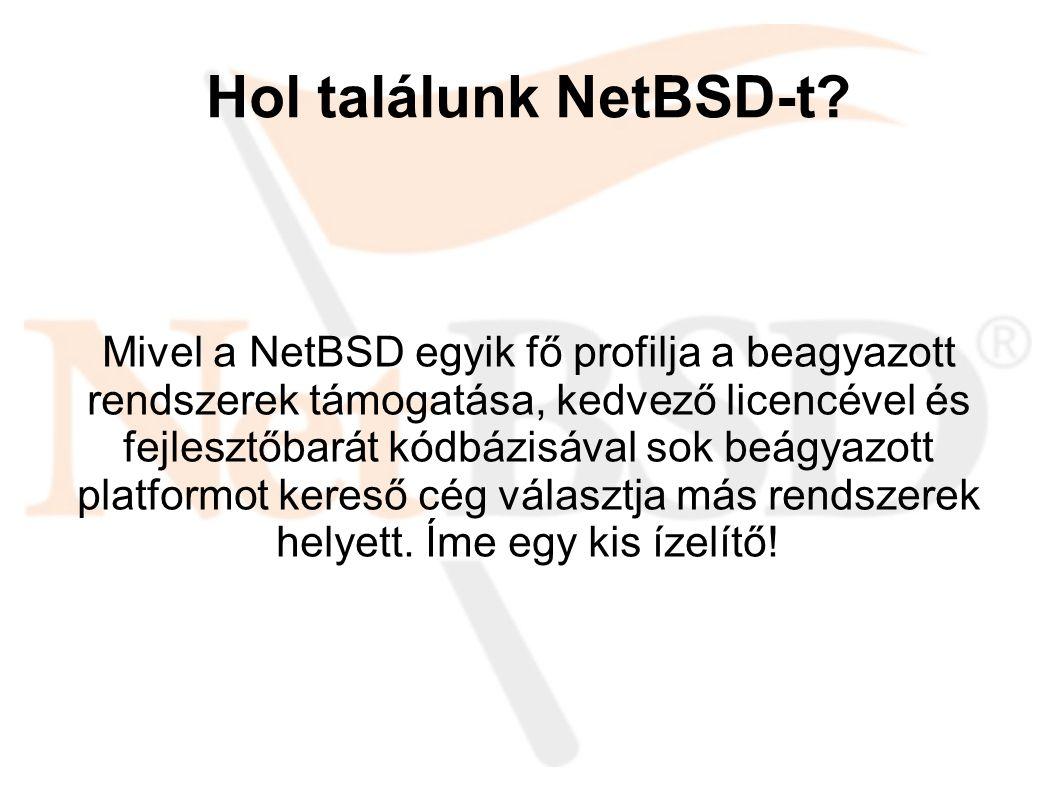 Hol találunk NetBSD-t.