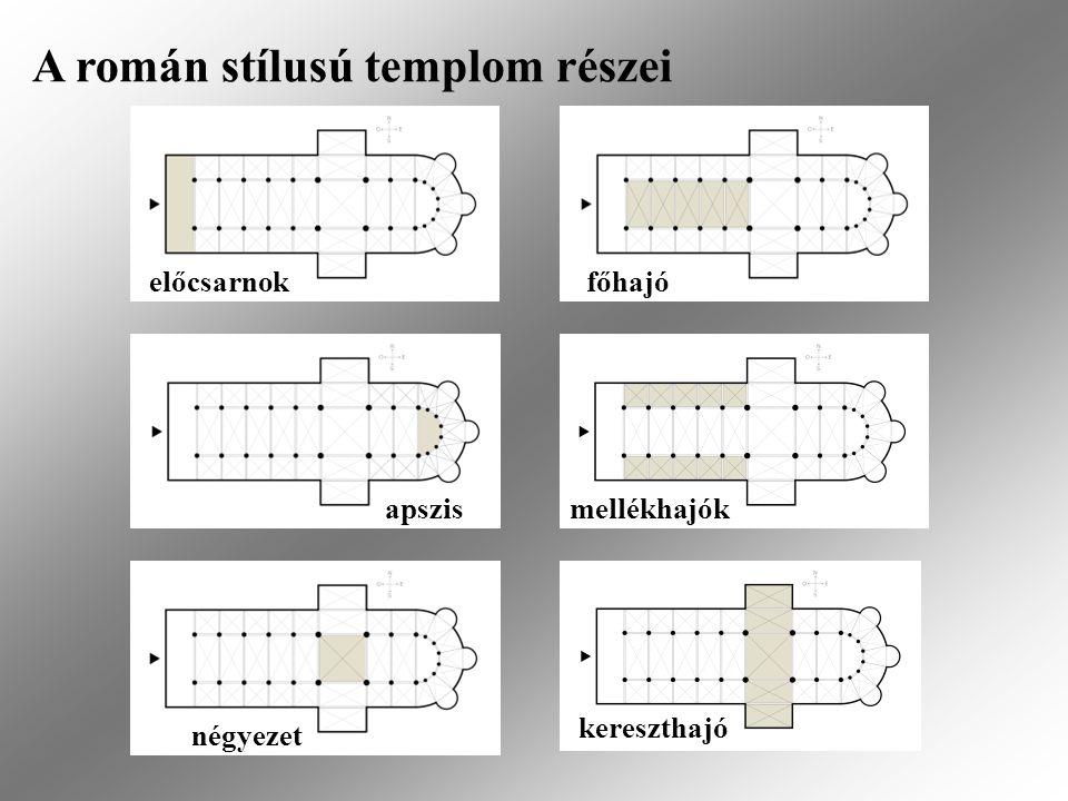 A román stílusú templom részei kórus szentélykörüljáró kápolnák