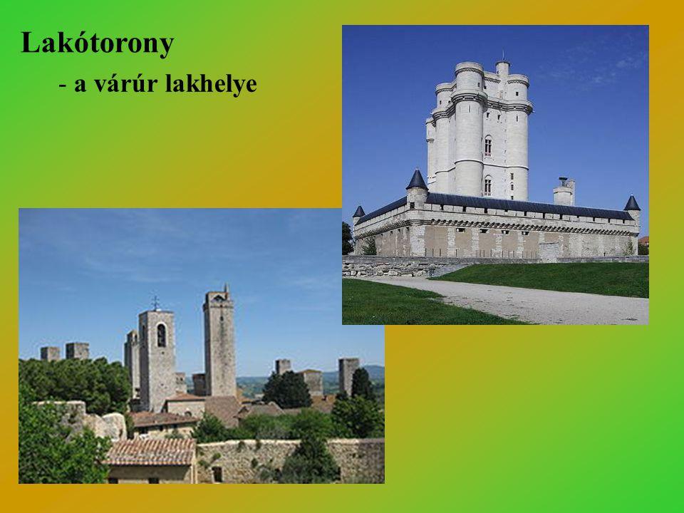 Visegrád: Salamon-torony - 13. sz. közepe - hatszög alaprajzú - öt szintes - vastag falak