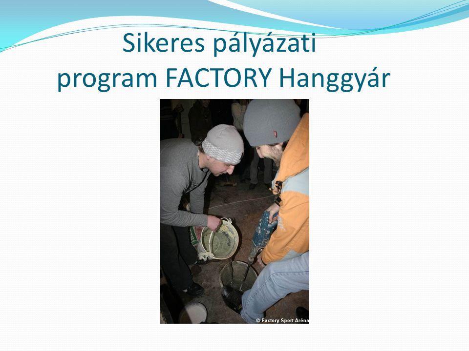 Sikeres pályázati program FACTORY Hanggyár
