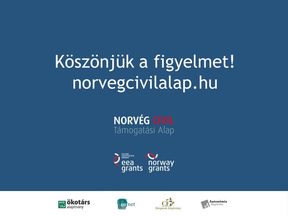 Köszönjük a figyelmet! norvegcivilalap.hu