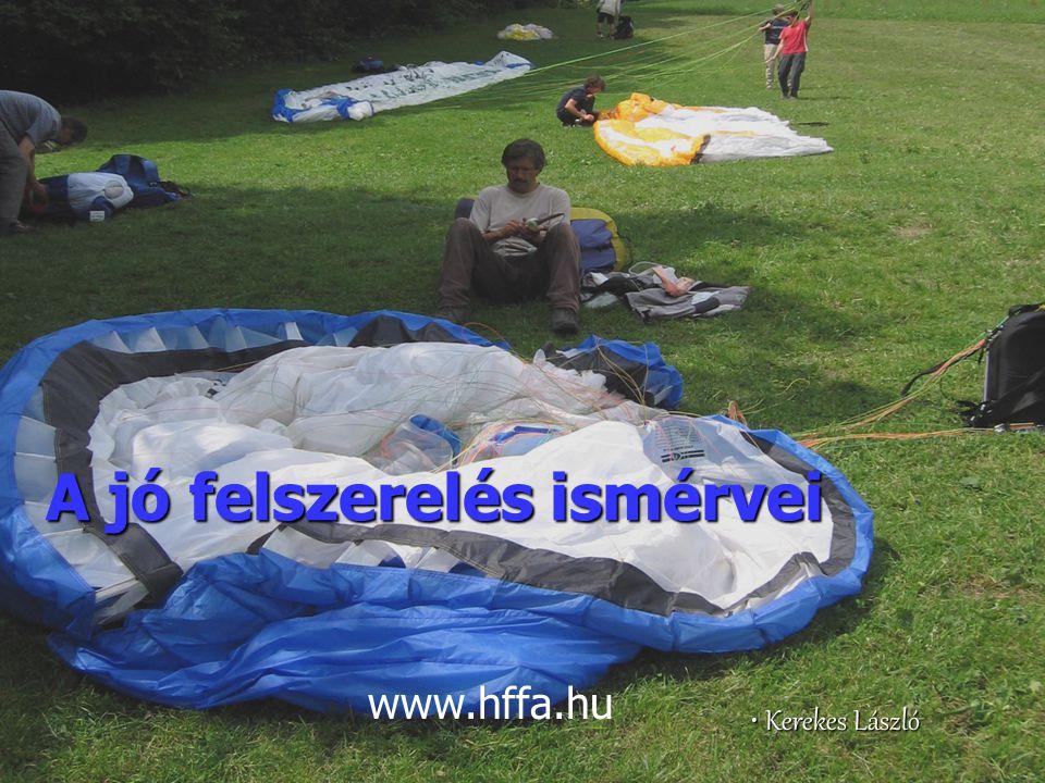 A jó felszerelés ismérvei Kerekes László Kerekes László www.hffa.hu