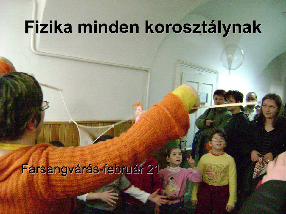 Fizika minden korosztálynak Farsangvárás-február 21 Farsangvárás-február 21