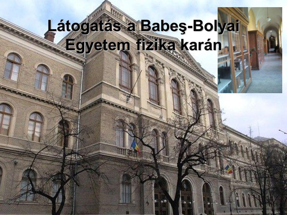 Látogatás a Babeş-Bolyai Egyetem fizika karán