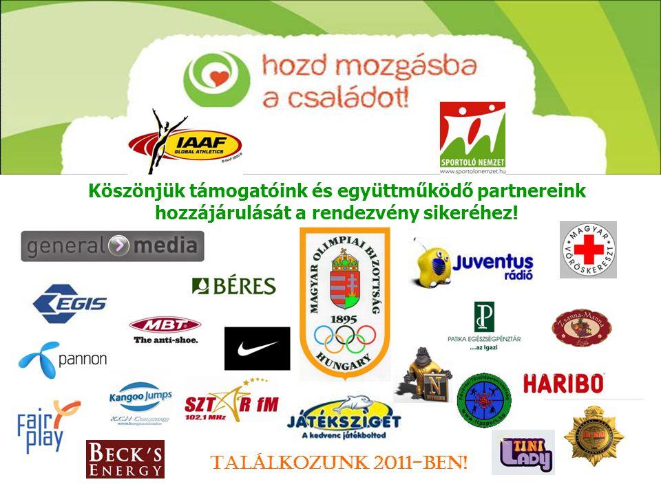 Köszönjük támogatóink és együttműködő partnereink hozzájárulását a rendezvény sikeréhez! Találkozunk 2011-ben!
