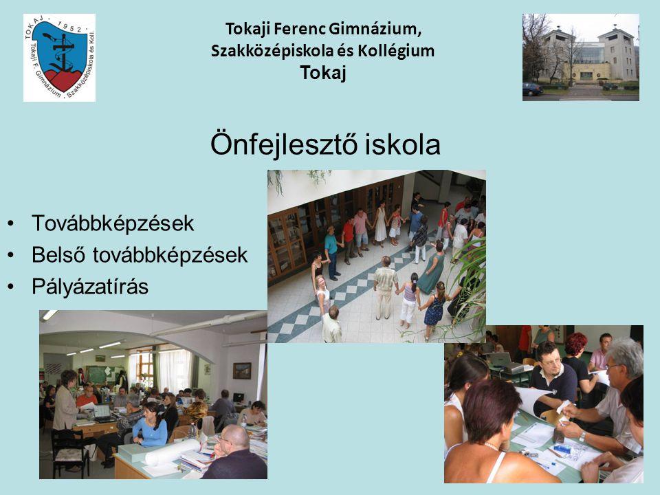 Tokaji Ferenc Gimnázium, Szakközépiskola és Kollégium Tokaj Önfejlesztő iskola Továbbképzések Belső továbbképzések Pályázatírás