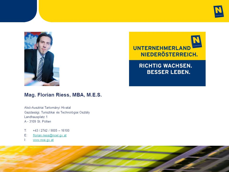 Mag. Florian Riess, MBA, M.E.S.