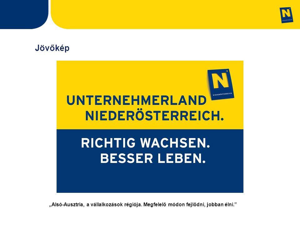 """Jövőkép """"Alsó-Ausztria, a vállalkozások régiója. Megfelelő módon fejlődni, jobban élni."""
