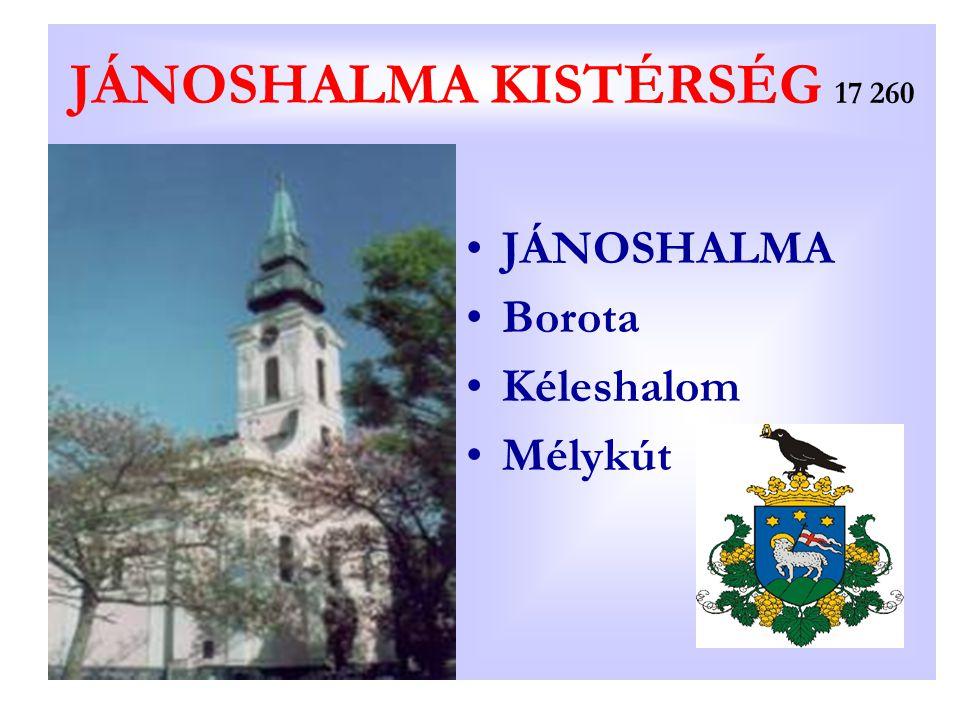 JÁNOSHALMA KISTÉRSÉG 17 260 JÁNOSHALMA Borota Kéleshalom Mélykút