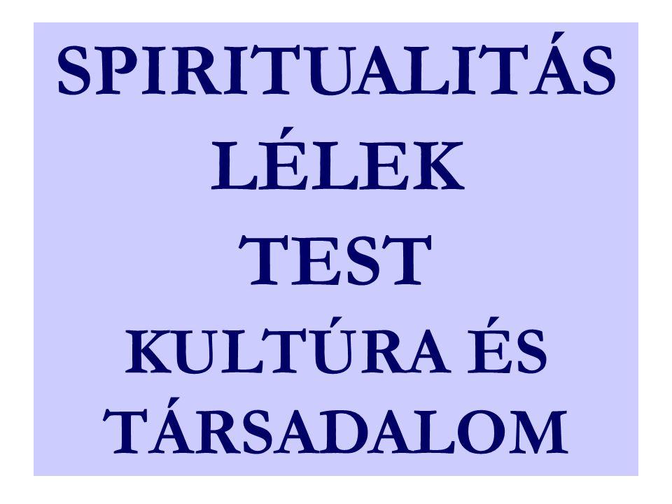 SPIRITUALITÁS LÉLEK TEST KULTÚRA ÉS TÁRSADALOM