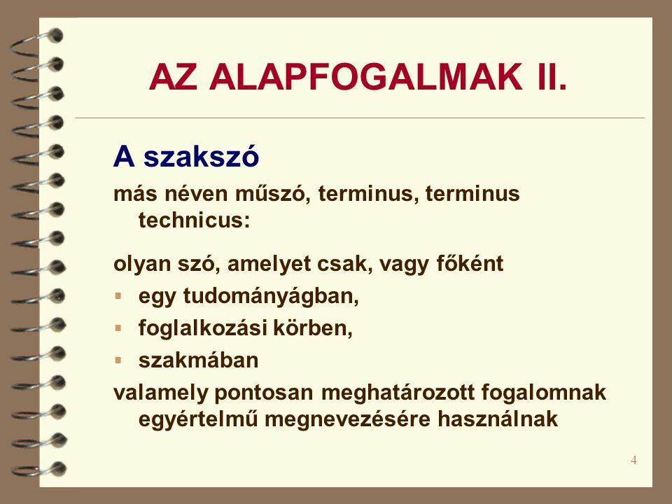 4 AZ ALAPFOGALMAK II.