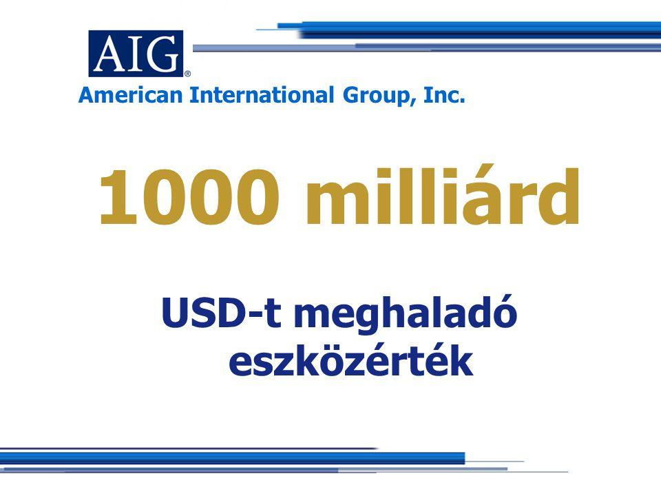 American International Group, Inc. 1000 milliárd USD-t meghaladó eszközérték