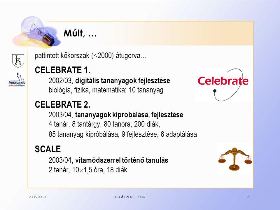 2006.03.30LKG és a KIT, 20066 Múlt, … pattintott kőkorszak (  2000) átugorva… CELEBRATE 1.