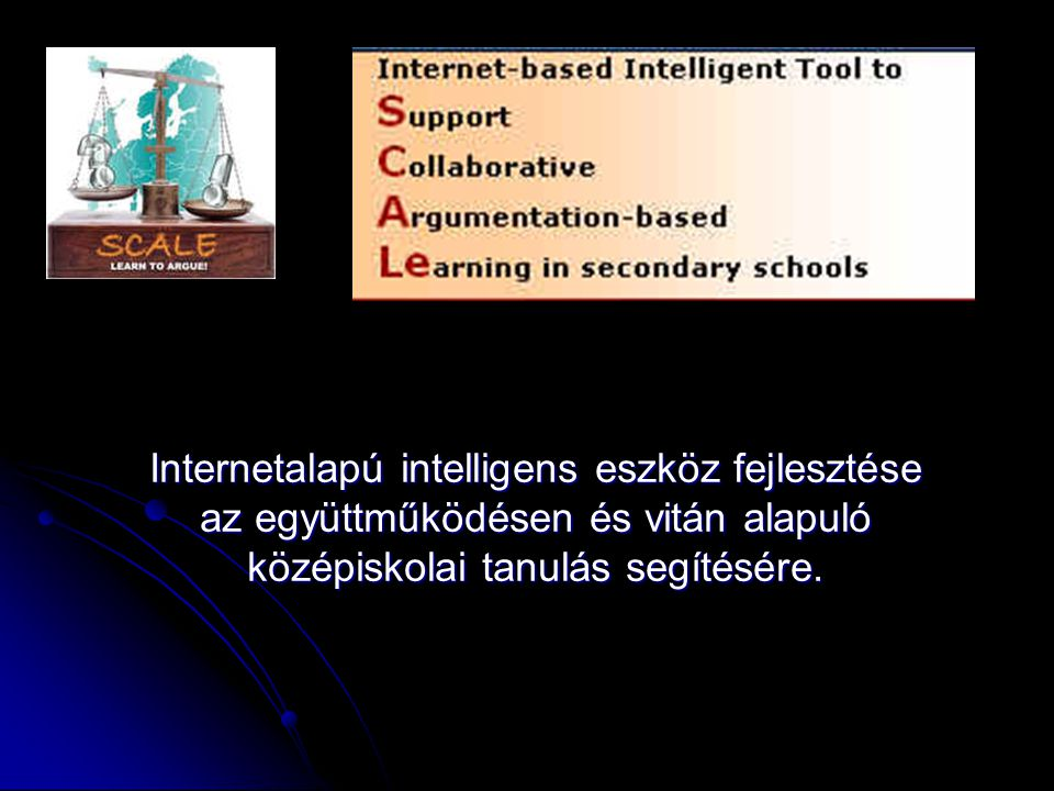 Internetalapú intelligens eszköz fejlesztése az együttműködésen és vitán alapuló középiskolai tanulás segítésére.