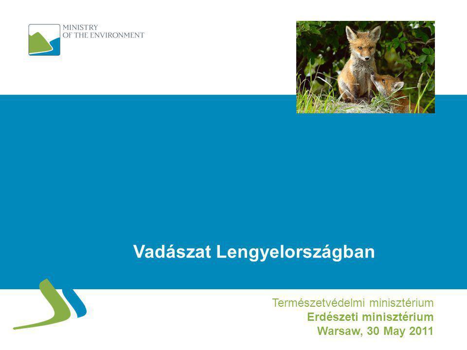 Fő lengyel vadfajok terítékstatisztikája Populáció és elejtés 2000–2010 – nagyvad (ezer db.) DámszarvasŐz