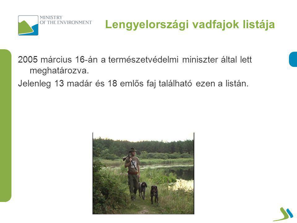 Vadászható vadfajok listája Emlősök: 1.jávorszarvas (Alces alces) 2.