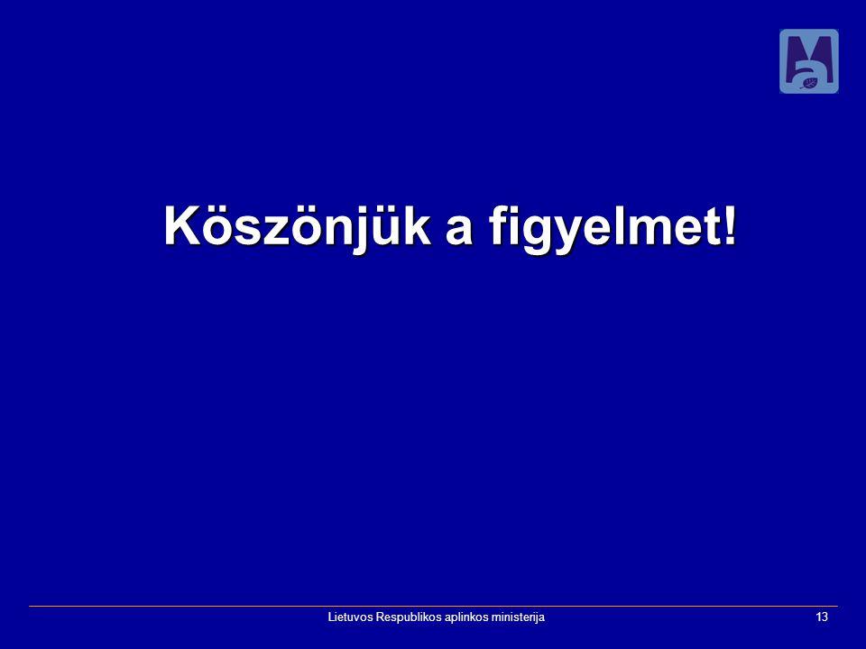 Lietuvos Respublikos aplinkos ministerija13 Köszönjük a figyelmet!