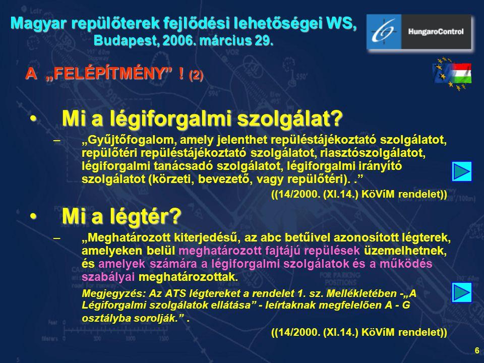 7 Forrás: internet Konferencia a repülőterek és környékük fejlesztéséről Budapest, 2006.