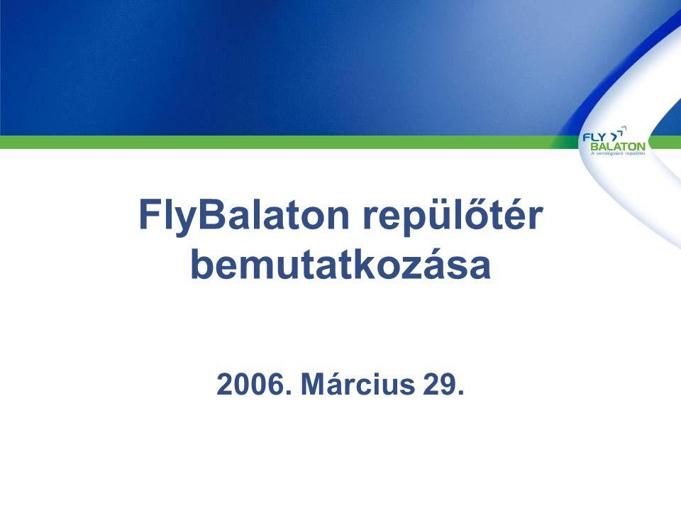 …és a várható utas forgalom előrejelzés 2006-ra 2004 Jan-Dec 2005 Jan-Dec (terv) 2006 Jan-Dec terv 2005 Jan-Sept (tény) 6.0 14.0 5.8 13.4 6.0 16.0 22.0 19.2 20.0 Worst caseRealistic case Best case 35.0 70.0 90.0 +35.0 +20.0 +59% +10% 2005 évi bázis+10% növekedés kimenő charterek 2005 bázis+10% növekedés kimenő charterek Egy low cost +218% +309% 2005 bázis+10% növekedés kimenő charterek Kettő low cost