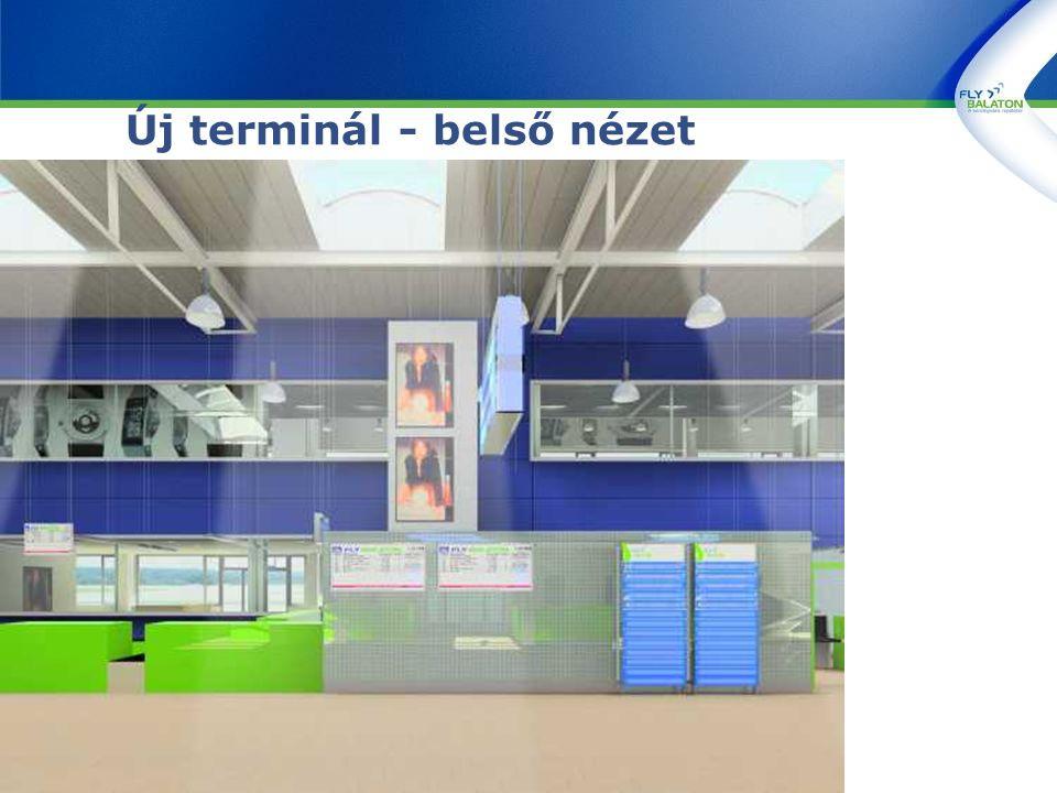 Új terminál - belső nézet