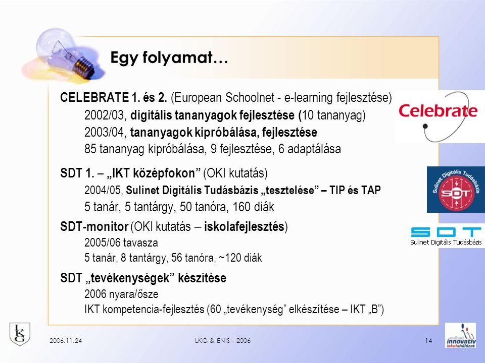 2006.11.24LKG & ENIS - 200614 Egy folyamat… CELEBRATE 1.