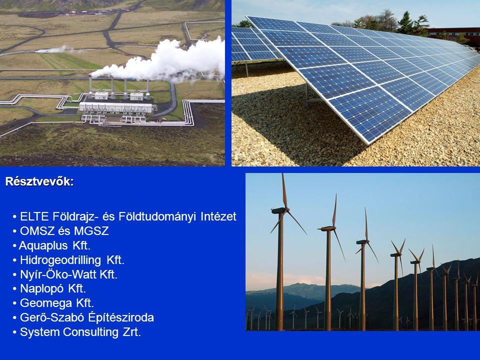 Résztvevők: ELTE Földrajz- és Földtudományi Intézet OMSZ és MGSZ Aquaplus Kft.