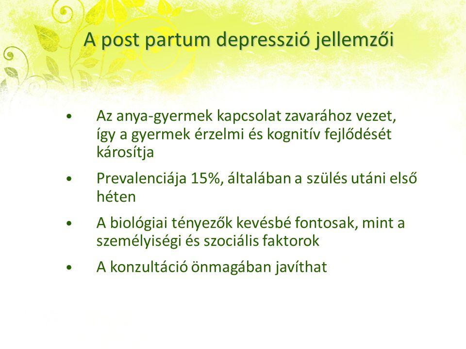 A depresszió orvosi értelemben vett betegség Meghatározott tünetek (min.