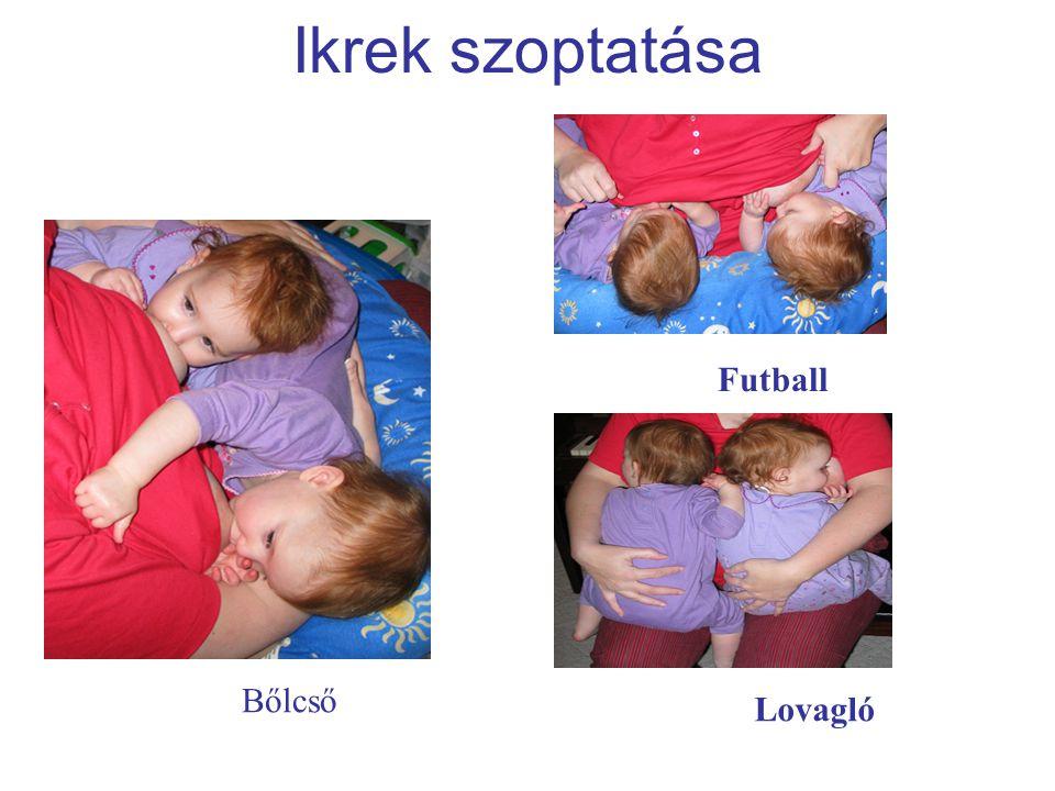 Ikrek szoptatása Bőlcső Futball Lovagló