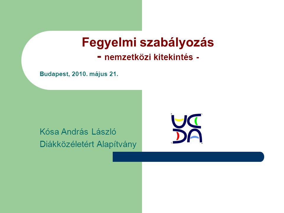 Fegyelmi szabályozás - nemzetközi kitekintés - Budapest, 2010.