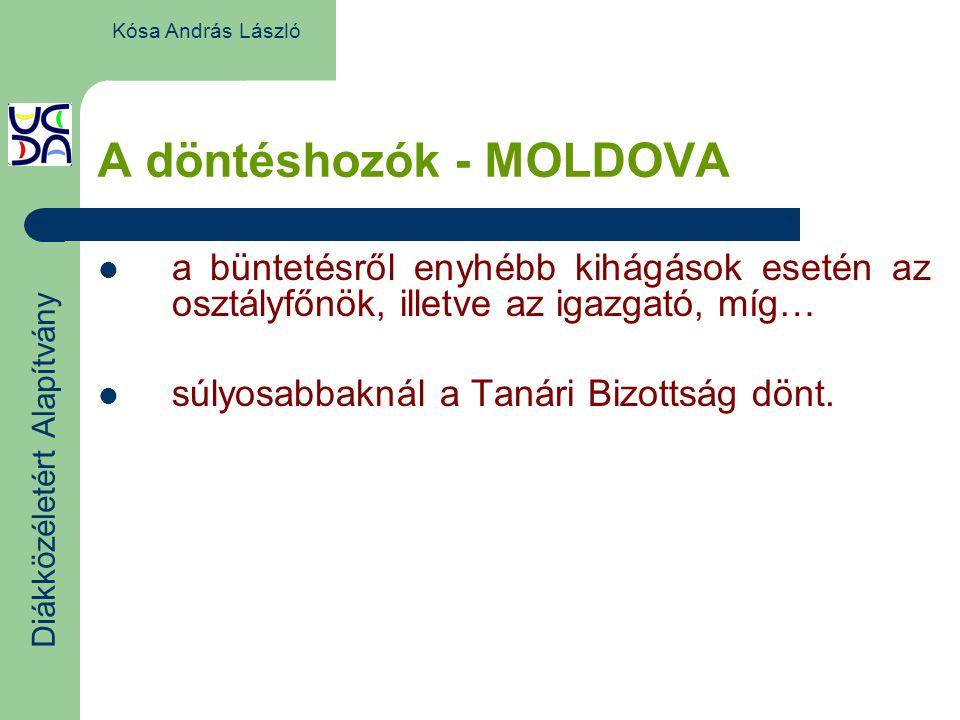 A döntéshozók - MOLDOVA a büntetésről enyhébb kihágások esetén az osztályfőnök, illetve az igazgató, míg… súlyosabbaknál a Tanári Bizottság dönt.