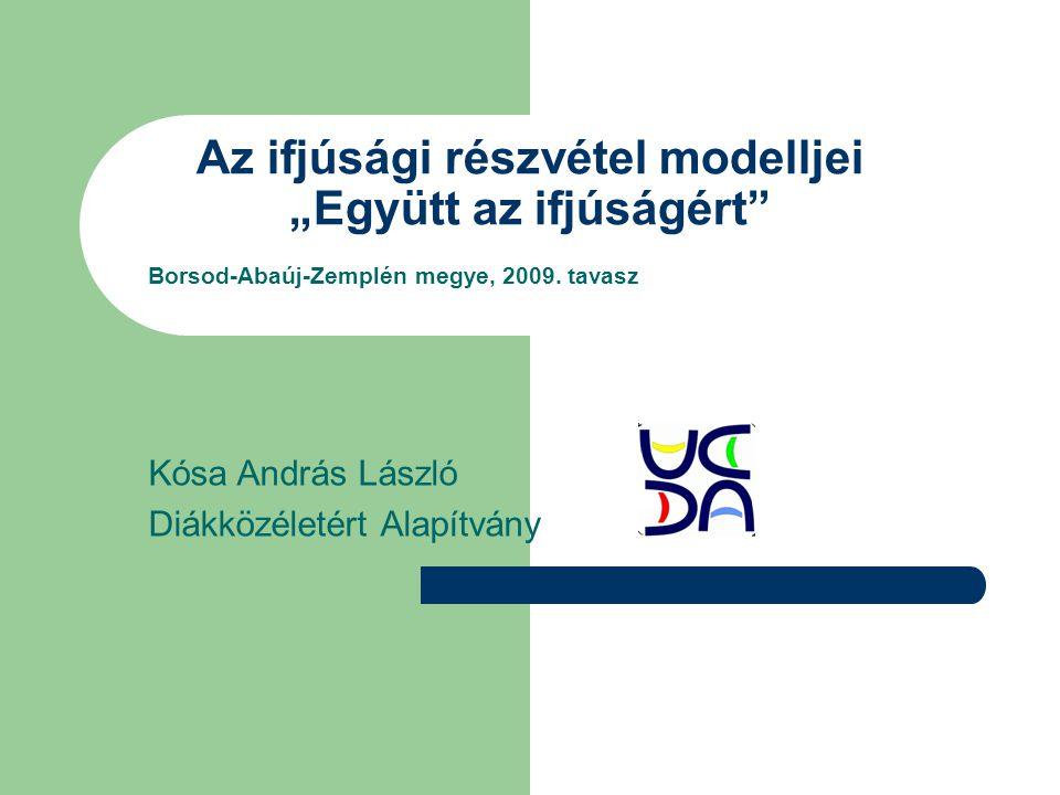 """Az ifjúsági részvétel modelljei """"Együtt az ifjúságért Borsod-Abaúj-Zemplén megye, 2009."""
