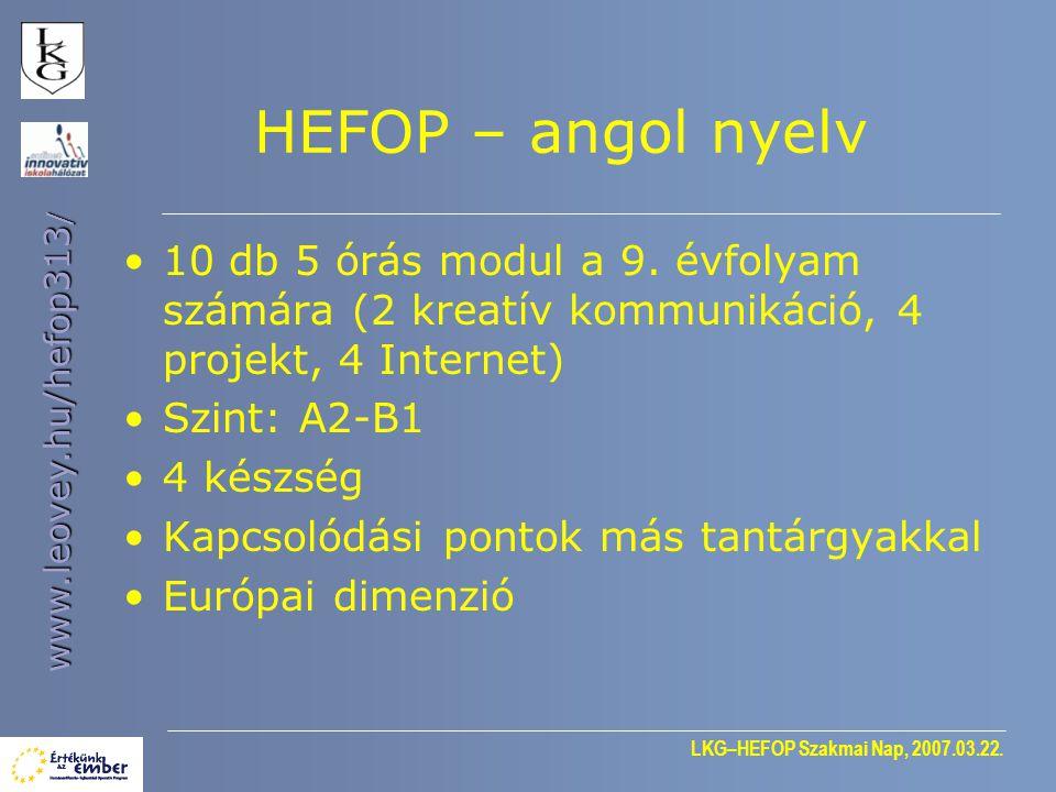 LKG–HEFOP Szakmai Nap, 2007.03.22. www.leovey.hu/hefop313 / Hogyan éltek a gyerekek a XIX.
