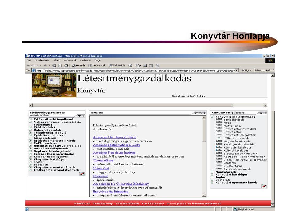 A Könyvtár által közvetített szakmai információtípusok