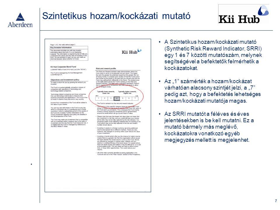 18 Publikálás A KIID-dokumentumot a befektetést megelőzően a befektetők rendelkezésére kell bocsátani.