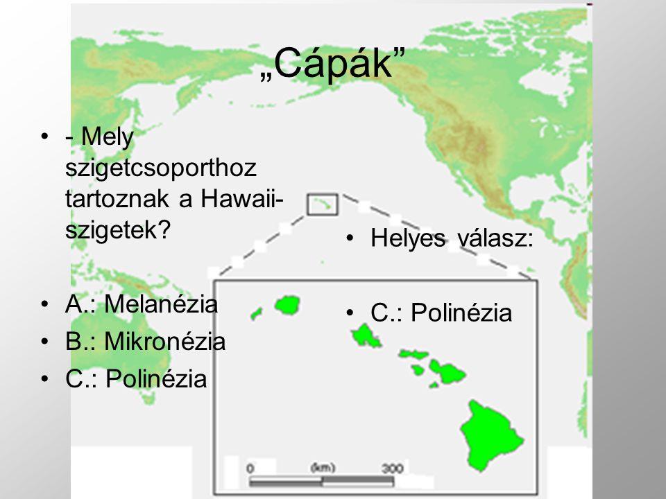 - Mely szigetcsoporthoz tartoznak a Hawaii- szigetek.